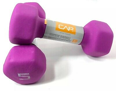 $ CDN40.14 • Buy CAP Hex Neoprene 5lb Set Of Two Dumbbell Weights 10lb Total