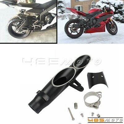 $60.71 • Buy For Yamaha YZF R6 Motorcycle Dual-outlet Exhaust Tail Pipe Muffler Tip 38cm