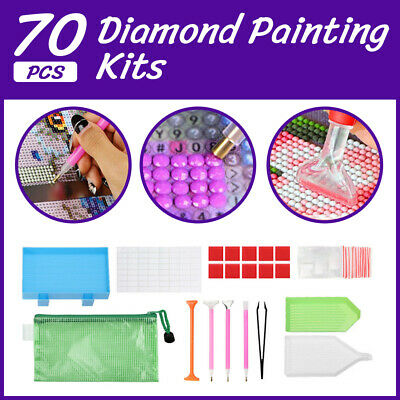 AU10.35 • Buy 70 Piece Diamond Painting Tools Box 5D Diamond Accessories Diy Art Craft Pen Set