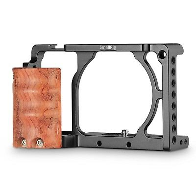 AU64.90 • Buy SmallRig Cage With Wooden Handgrip For Sony A6000/A6300 Camera Rig Kit 2082