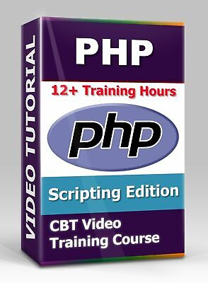 £3.54 • Buy PHP Scripting Edition - CBT Video Training Course - 12+ Hours Of Video Training