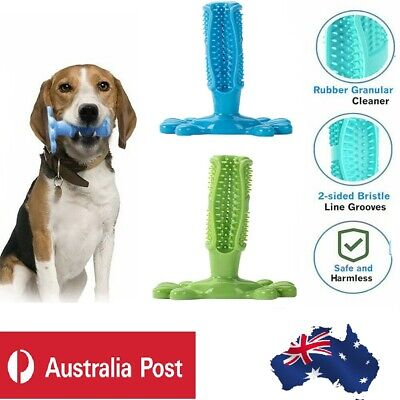 AU14.83 • Buy Dog Toothbrush Toy Clean Teeth Brushing Stick Pet Brush Mouth Chewing Clean