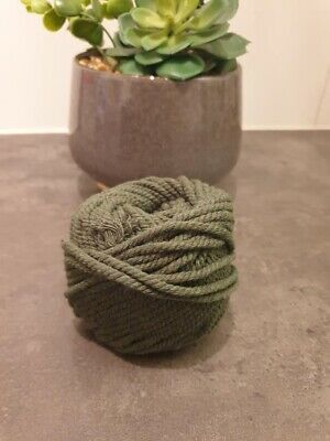 AU6 • Buy 4mm* : Macrame Rope Olive Cotton Twisted Cord