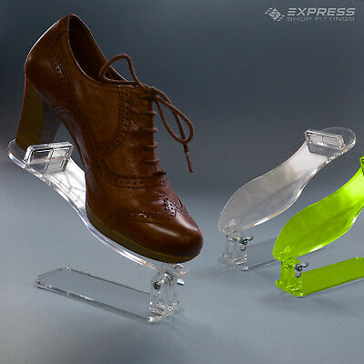 Acrylic Free Standing Counter Top Shoe Display Stand - Clear & Green • 9.99£