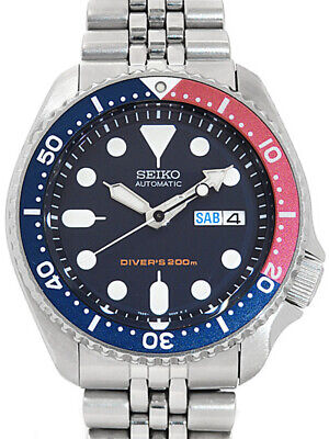 $ CDN451.57 • Buy Used SEIKO SKX009 7S26-0020 Navy Boy Divers Black Navy Red Stainless From Japan