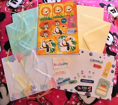 JoJo's ~ Jungle ~ Card Making Kit ~ Children's Theme ~ Brand New ~ Set 3 • 1.50£