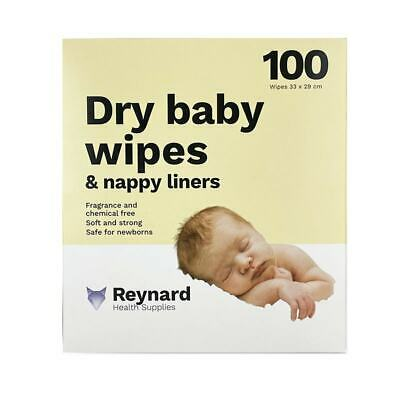 AU5.95 • Buy Reynard Dry Baby Wipes & Nappy Liners X 100
