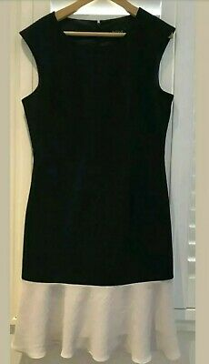 AU25 • Buy Basque Black And White Dress Sz 12 Fully Lined