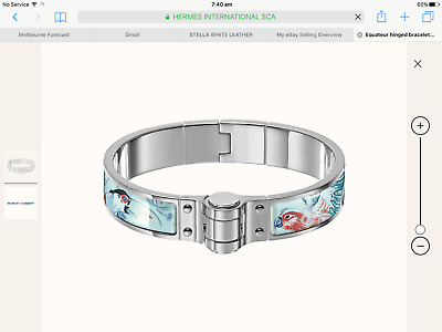 AU285 • Buy Beautiful Hermes Hingle Bracelet, Limited Edition Equateur Denim In Size PM