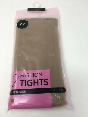 Glossy Girls Tights 20D 2PP In TAN Dance, Occasion, Party  Sizes 7/8,9/10,11/12 • 2.49£