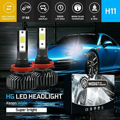 AU28.69 • Buy H11 H8 H9 Upgrade Model Beam LED Car Headlights High/Low Bulbs Kit Globes White