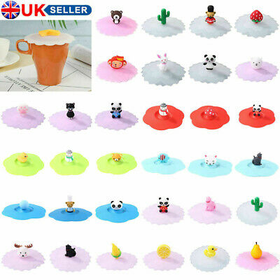 £4.14 • Buy Silicone Cup Lid Drink Cup Cover Anti-Dust Coffee Mug Suction Seal Insulated Cap