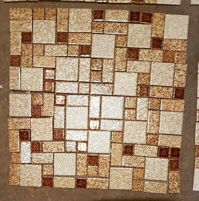 Vintage Retro Shabby Chic 1970's Square Mosaic Tiles For Walls Pots Art Craft • 10£