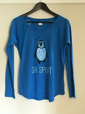 AU10 • Buy Gilly Hicks Hollister Long Sleeve Top, Mesh Inserts, Penguin, Blue, Size XS