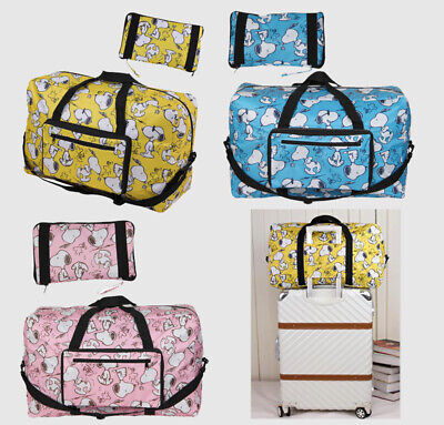 Snoopy Peanuts Foldaway Large Waterproof Holdall Travel Luggage Bag In 3 Colours • 16.55£