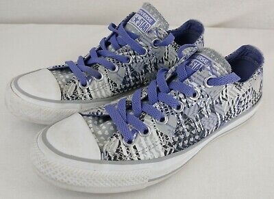 Converse All Star Purple Patterned Heart Shoes Size UK 5 EU 37.5 - 544841C • 20£