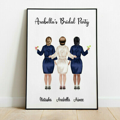 Personalised Hen Party Night Bride Tribe Picture Wall/ Word Art Keepsake Gift • 4.19£