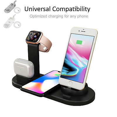 AU24.99 • Buy 3 In 1 Apple Qi Wireless Charger Charging Dock Stand Station For IPhone Watch