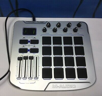 $70 • Buy M AUDIO TRIGGER FINGER USB MIDI Controller Surface Drum Pads *untested