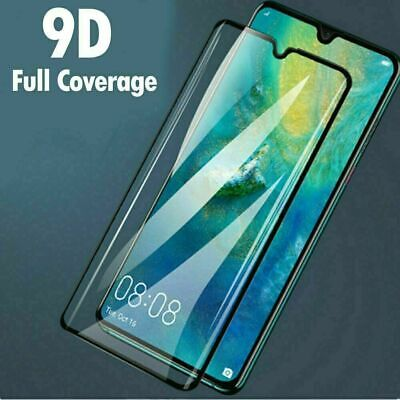 Full Coverage 3D Tempered Glass Screen Protector For Huawei P30 P20 Pro Mate 20 • 2.59£