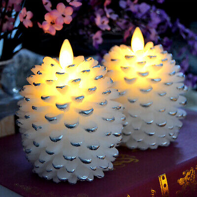 £21.51 • Buy Luminara Flicker Flame Candles, Pine Cone Led Candle With Timer White 1pc
