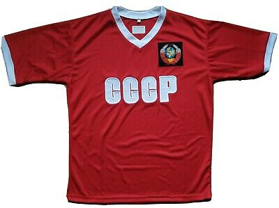 £14.16 • Buy  T-SHIRT USSR Soviet Union CCCP Football Hammer And Sickle Red Sport Jersey