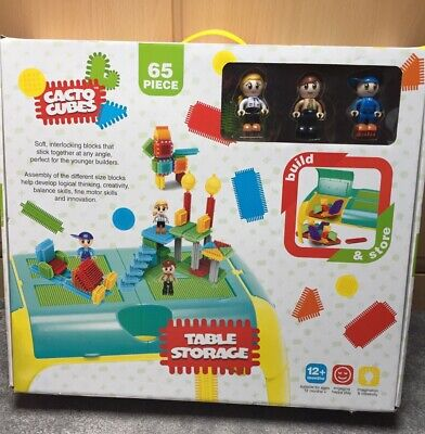 £36 • Buy CACTO CUBES BUILD & PLAY 6 COMPARTMENT TABLE SET & 65 PIECES -5 FIGURES New Box