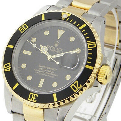 $ CDN11600.57 • Buy Rolex Used  -  Submariner 40mm In Steel With Yellow Gold Black Bezel