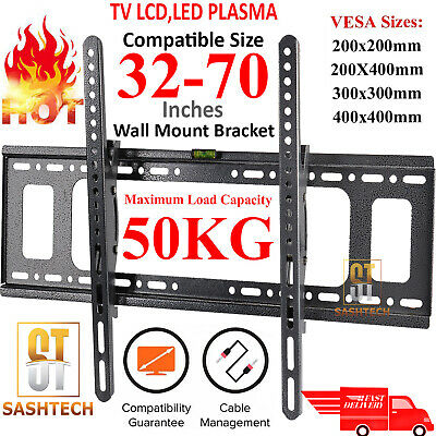 AU21.74 • Buy Tilt Tv Wall Bracket Mount Lcd Led Plasma 32 42 50 55 Up To 70 Inch Sony Samsung