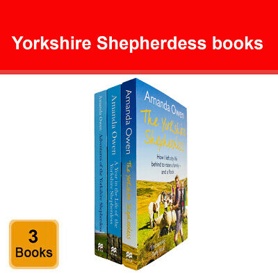 The Yorkshire Shepherdess Series 3 Books Collection Set By Amanda Owen NEW Pack • 21.98£