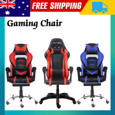AU124 • Buy Gaming Chair Office Computer Leather Chairs Racer Executive Racing Seat Footrest