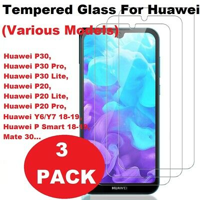 3X TEMPERED GLASS SCREEN PROTECTOR FOR HUAWEI P20 P30 P40 Lite PRO GORILLA GLASS • 2.29£