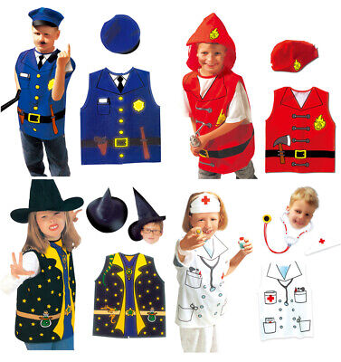 £4.95 • Buy Doctor Wizard Fire Man Witch Police Halloween Dress Costume 5-10yr One Size