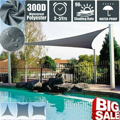 AU38.48 • Buy Triangle/Square/Rectangle Sun Shade Sail Outdoor Garden Cover UV Canopy Awning