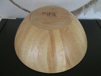 $5.99 • Buy Bamboo Wood Studio Nova Fruit Bowl 8  Wide X 3  Deep Thailand