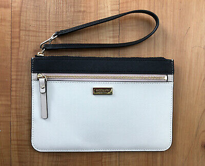 $ CDN39.53 • Buy Kate Spade NY Laurel Way Tinie Two Toned Black White Wristlet New Without Tags