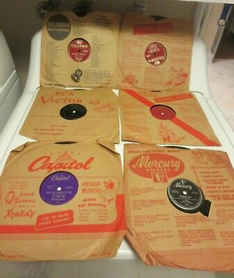 $20 • Buy LOT OF 6 Crooners 78 Rpm Records W/Vintage Sleeves-Mathis, Damone, Bennett, More