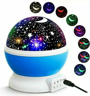 Rotating LED Light Music Projector Star Moon Baby Kids Night Room Lamp Remote UK • 19.99£