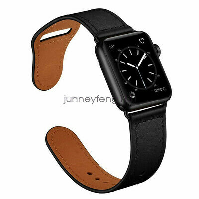 AU22.99 • Buy 【Genuine Leather】Apple Watch Band Strap For IWatch SE 6 5 4 3 2 38 42 40 44mm