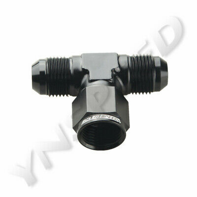 AU14.40 • Buy Black Aluminum Tee Fitting Adapter AN8 8AN Male To AN8 8AN Male To AN8 Female