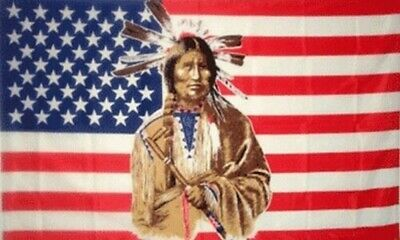 $6.95 • Buy American Indian Native American United States Flag Banner 3x5 W/ Grommets New!!