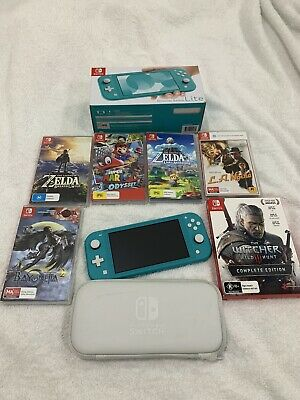 AU290 • Buy Nintendo Switch Lite Turquoise Console Bundle