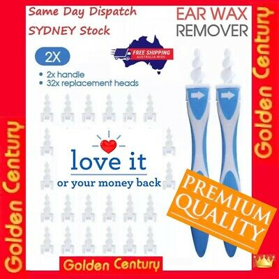 AU12.69 • Buy AU 2x Ear Wax Removal Remover Tool Ear Cleaner Q-Grips Pick Swab Handle 32 Tips