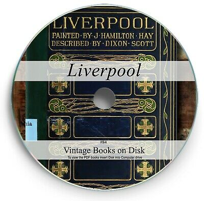 Liverpool & Merseyside History Genealogy -145 Old Books On DVD People Places 84 • 3.90£