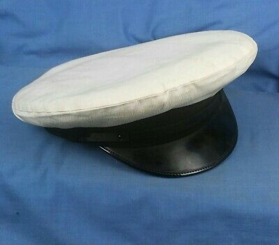 Vintage William Scully Montreal Canada Yachting White Top  Peaked Cap Size 7 1/2 • 49.99£