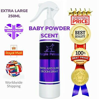 Professional Smelly Dog Grooming Spray Perfume Cologne Baby Powder XL 250ML. • 11.49£