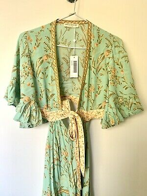 AU202.50 • Buy Sample Maisie Bambi Gown Turquoise Small - Spell & The Gypsy Collective