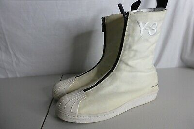 AU200 • Buy Adidas Y-3 X High Q3441 Yohji Yamamoto High Top Boot Sneaker White US8 USED Rare