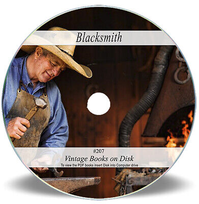 Blacksmith Books On CD - Forge Training Manual Farrier Anvil Hammer Welding 207 • 3.90£