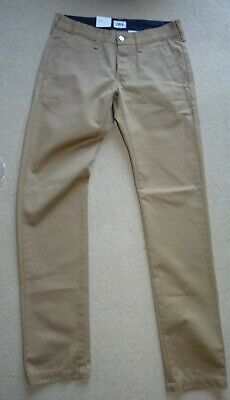 Genuine Edwin Beige Rinsed Twill Chinos 29W 33L Straight Leg Trousers  • 29.99£